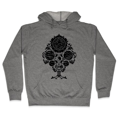 Victorian Planet Pattern Hooded Sweatshirt