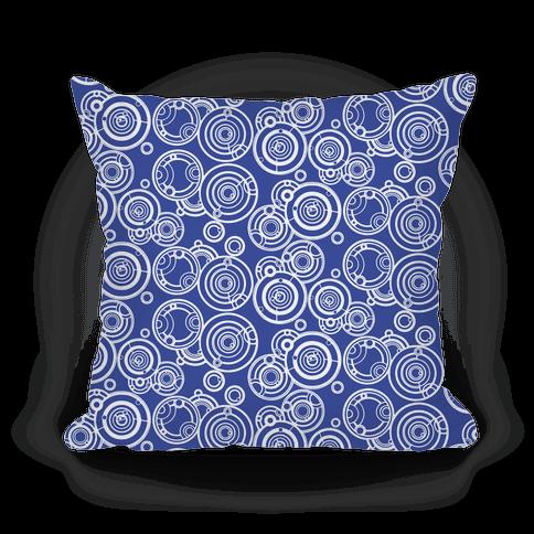 TARDIS Blue Gallifreyan Writing Pattern