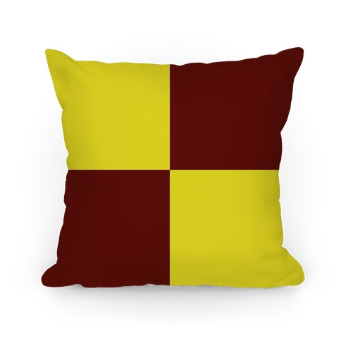Gryffindor House Color Block Pattern Pillow