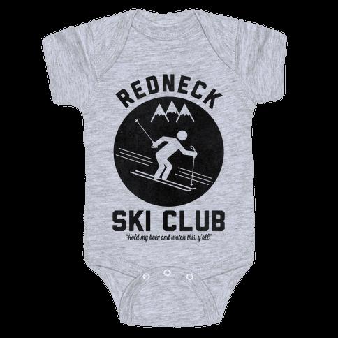 Redneck Ski Club Baby Onesy