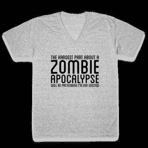 Zombie V-Neck Tee Shirt