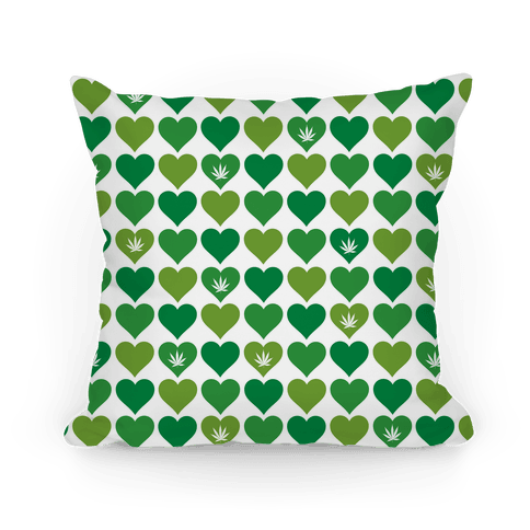 Weed Heart Pillow Pillow