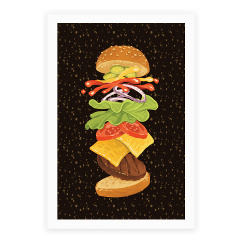Anatomy Of A Burger Poster
