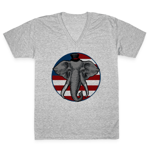 GOP Flag V-Neck Tee Shirt