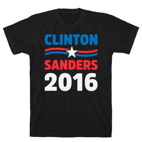 Clinton Sanders 2016 Mens T-Shirt