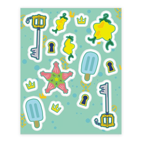 Destiny Island Sticker and Decal Sheet