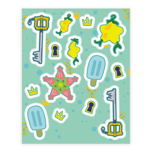Destiny Island  Sticker/Decal Sheet