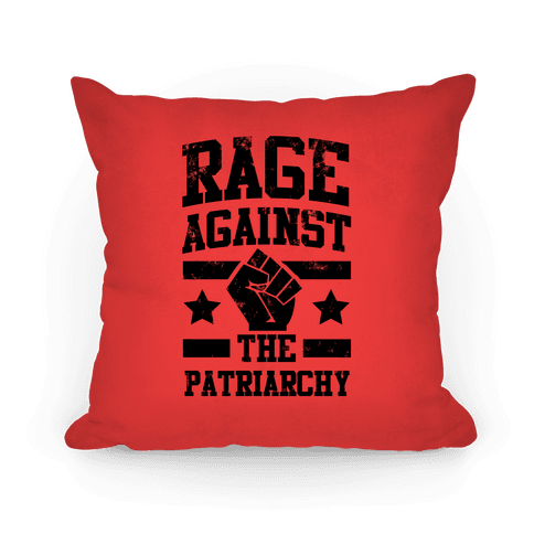 Rage Against the Patriarchy (red) Pillow