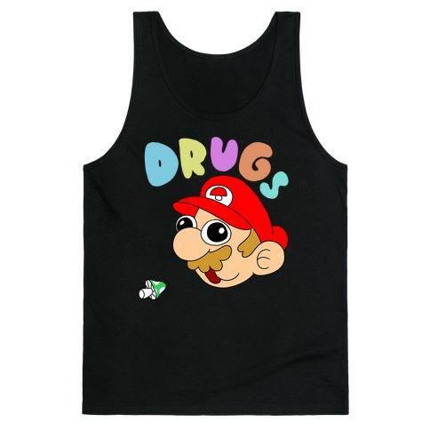 Mario On Drugs Tank Top