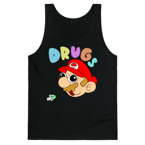 Mario On Drugs Tank Top