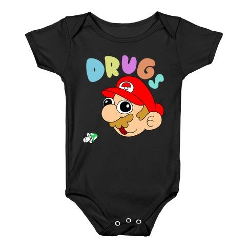 Mario On Drugs Baby Onesy