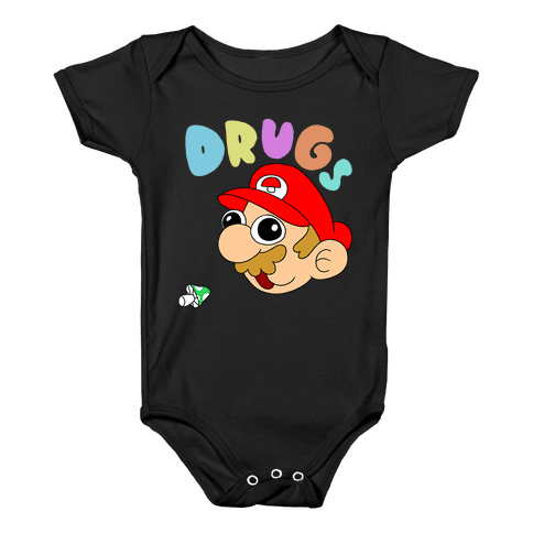 Mario On Drugs Baby Onesy