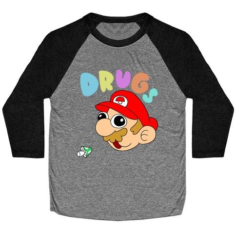 Mario On Drugs Baseball Tee