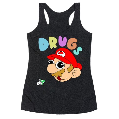 Mario On Drugs Racerback Tank Top