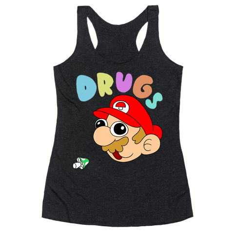 Mario On Drugs Racerback Tank Top