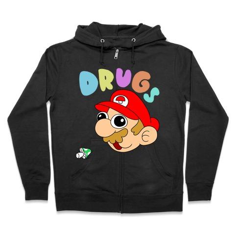 Mario On Drugs Zip Hoodie