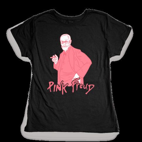 Pink Freud Womens T-Shirt