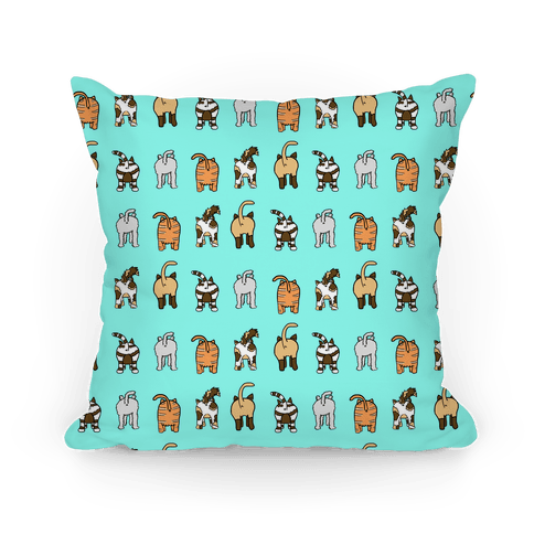Cat Butt Pattern Pillow