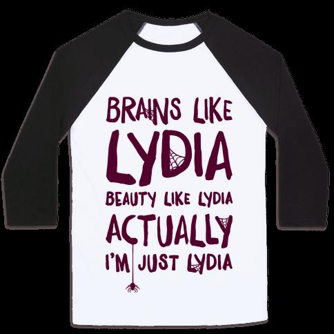 Beetlejuice Actually I'm Just Lydia Baseball Tee