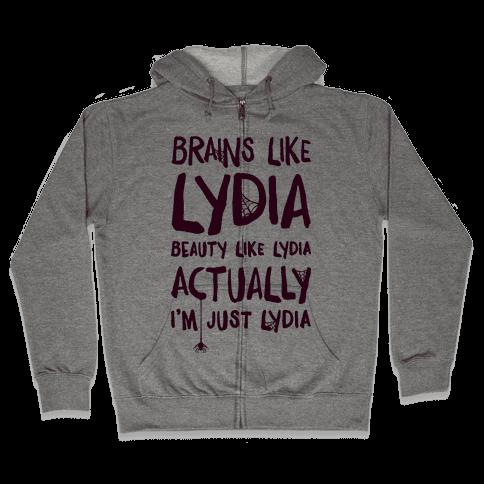 Beetlejuice Actually I'm Just Lydia Zip Hoodie