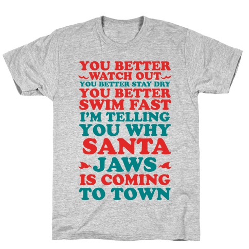 Santa Jaws Is Coming To Town T-Shirt