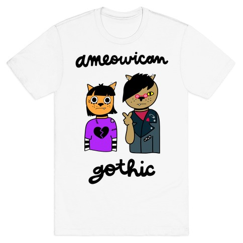 Ameowican Gothic T-Shirt