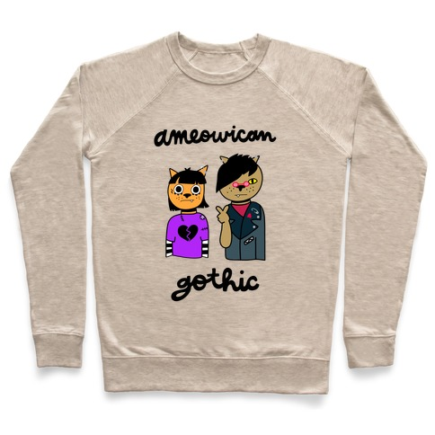 Ameowican Gothic Pullover