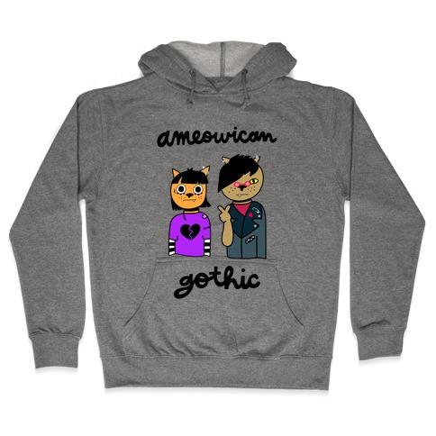 Ameowican Gothic Hooded Sweatshirt