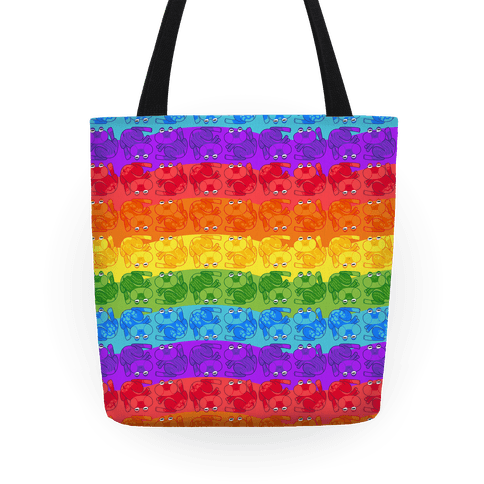 Rainbow Pride Frogs Tote