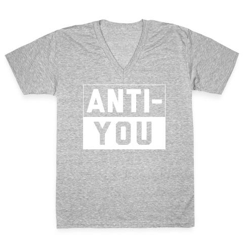 Anti-You V-Neck Tee Shirt