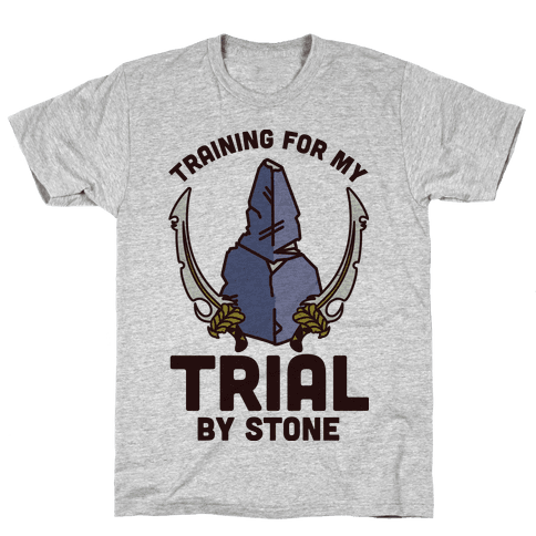 Training For My Trial By Stone Mens T-Shirt
