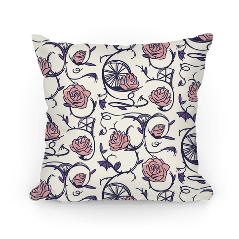 Sleeping Beauty Briar Rose Floral Pattern Pillow