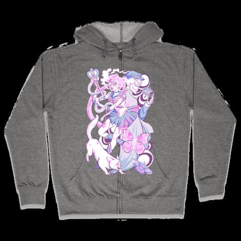 Pastel Horror Senshi Zip Hoodie