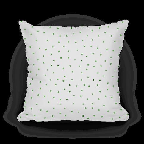 Green Watercolor Polka Dots