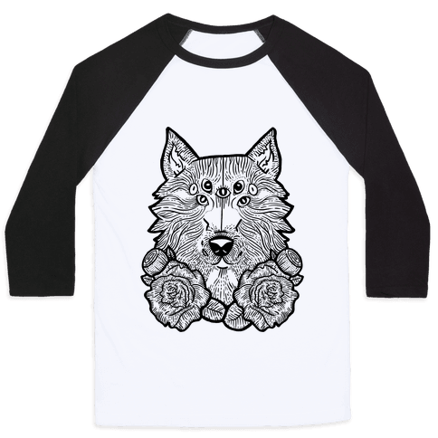 Seven Eyed Wolf Baseball Tee