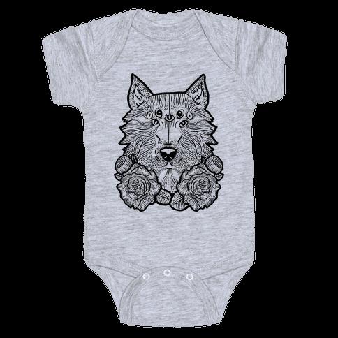 Seven Eyed Wolf Baby Onesy