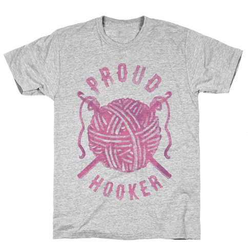 Proud (Crochet) Hooker Mens T-Shirt