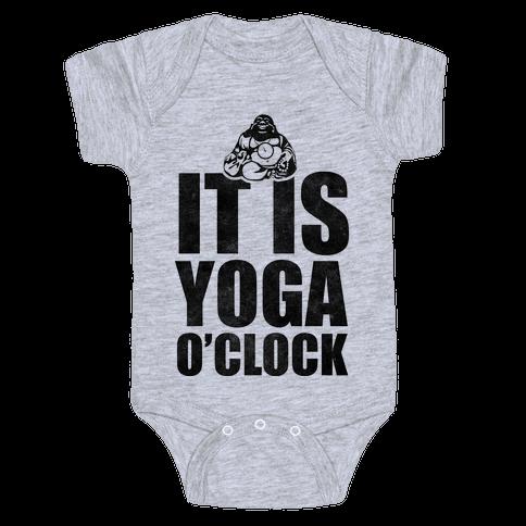 Yoga O'Clock Baby Onesy