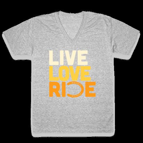 Live Love Ride (Horseshoe) V-Neck Tee Shirt