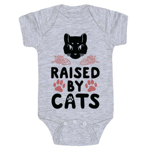 Raised By Cats Baby Onesy