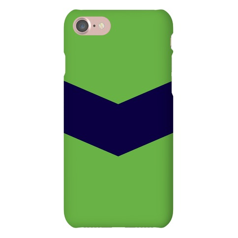 Navy and Green Chevron Case Phone Case