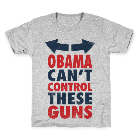 Obama Can't Control These Guns (Tank) Kids T-Shirt