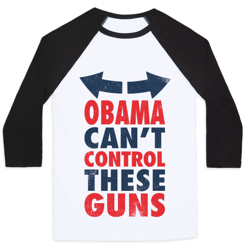 Obama Can't Control These Guns (Tank) Baseball Tee