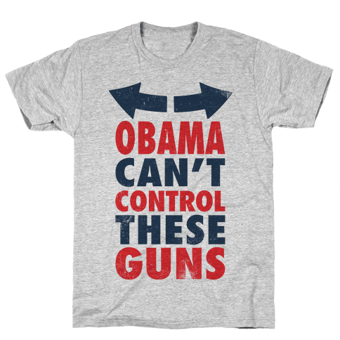 Obama Can't Control These Guns (Tank) Mens T-Shirt