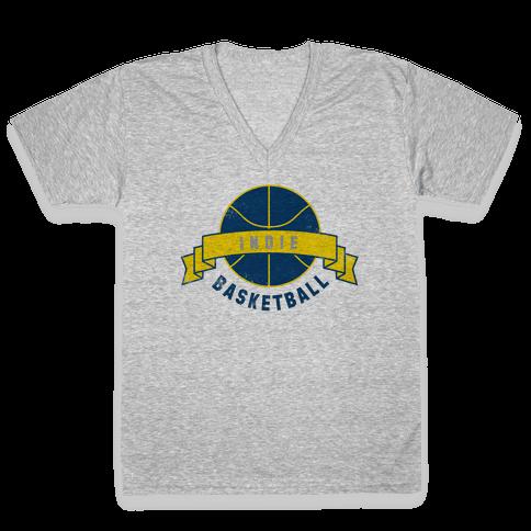 Indianapolis Basketball V-Neck Tee Shirt