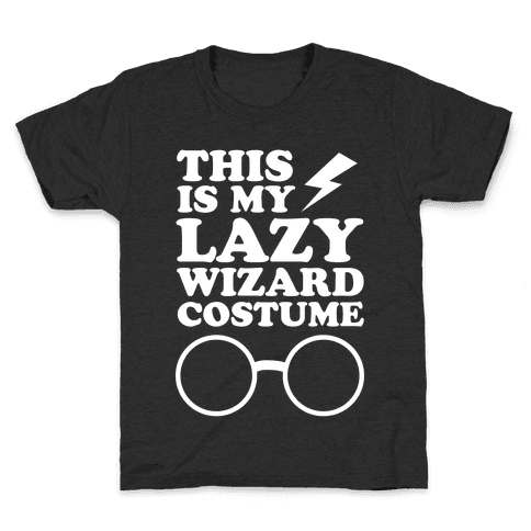 This is My Lazy Wizard Costume Kids T-Shirt