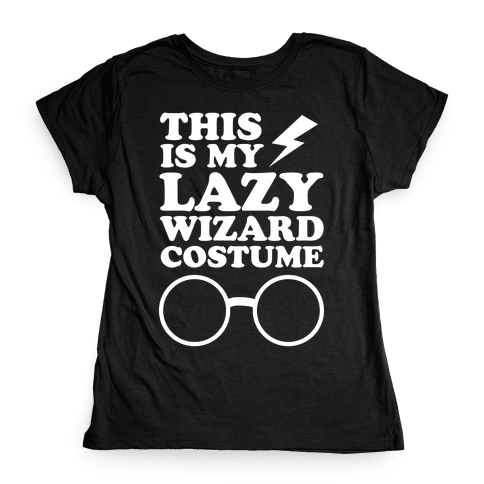This is My Lazy Wizard Costume Womens T-Shirt