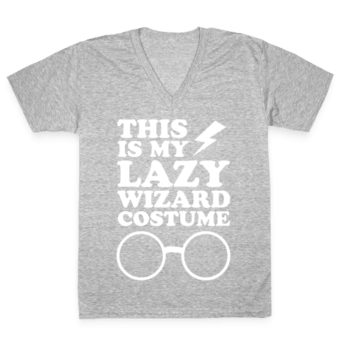 This is My Lazy Wizard Costume V-Neck Tee Shirt