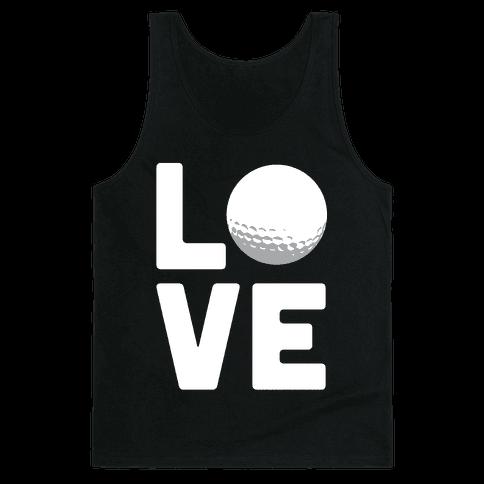Love Golf (White Ink) Tank Top