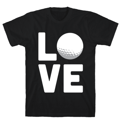 Love Golf (White Ink) Mens T-Shirt